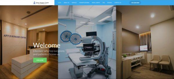 Aptus Surgery Centre screenshot Theo De Roza Direct Response Copywriter Singapore