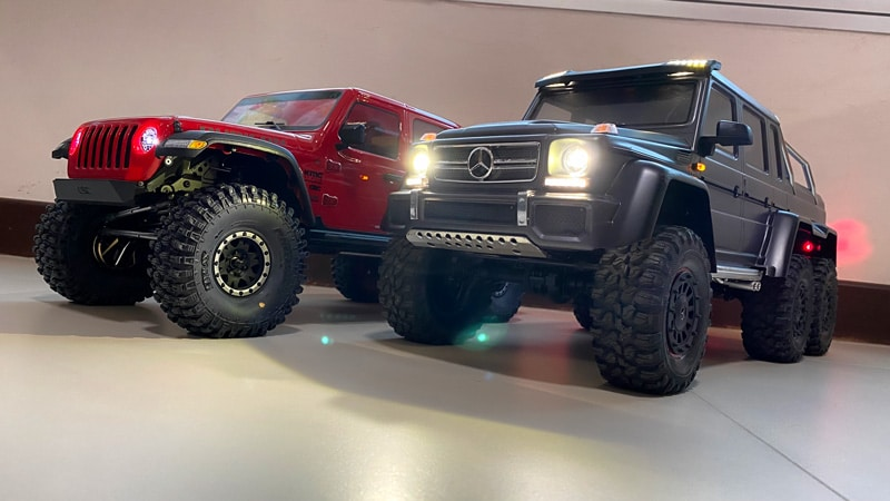 How to connect Traxxas TRX-4 or TRX-6 lights when using Hobbywing ESC